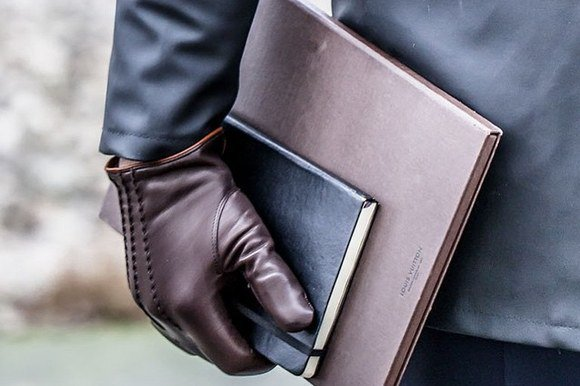 NEW DC 009 MEN CLASSIC BROWN FASHION DRIVING GLOVES SIZE L