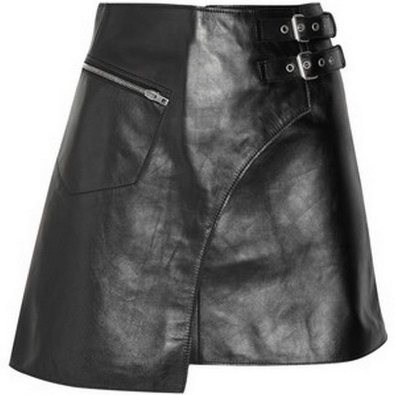 New Style Men Leather Kilt Genuine Leather Made For Men size 32