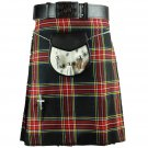 NEW DC MEN TRADITIONAL SCOTTISH HIGHLAND TARTAN KILT SIZE 30