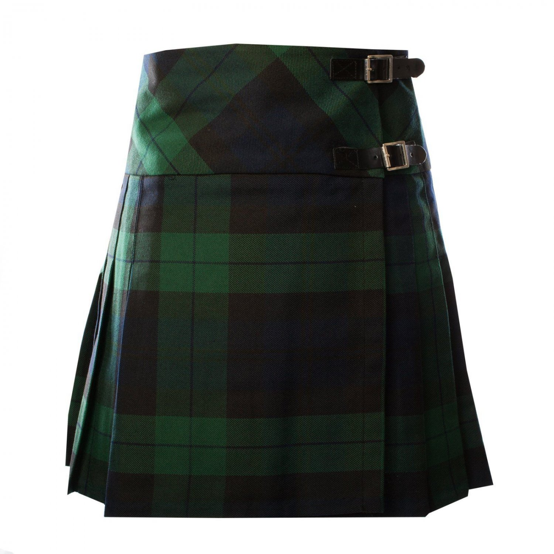 Ladies Black Watch Skirt Kilt Billie Style Size 56