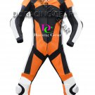 Orange/Black Motorcycle Leather Suit MOTOGP Motorbike