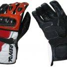 Honda Repsol Motorbike Motto GP Leather  Racing Glove Protected Racing Glove Size S
