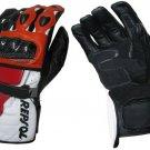 Honda Repsol Motorbike Motto GP Leather  Racing Glove Protected Racing Glove Size M