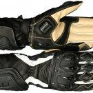 Black Otra Motorbike Motto GP Leather  Racing Glove Protected Racing Glove Size XS