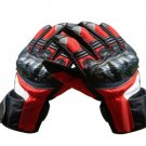 Red/Black Motorcycle Leather Gloves.biker Sports Leather gloves Size M