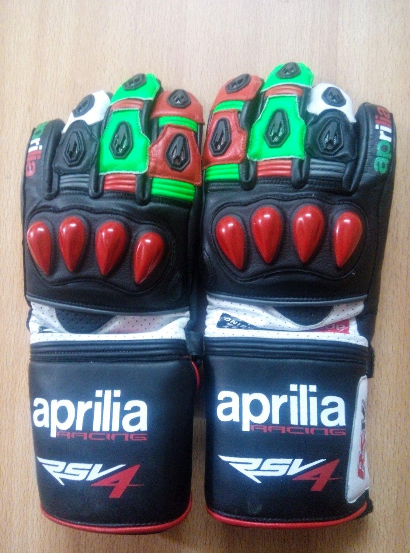 Aprilia Motorcycle Leather Gloves.biker Sports Leather gloves Size M