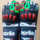 Aprilia Motorcycle Leather Gloves.biker Sports Leather gloves Size L