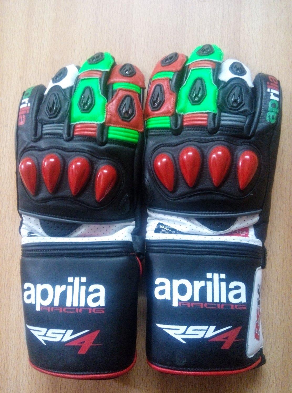 Aprilia Motorcycle Leather Gloves.biker Sports Leather gloves Size XL