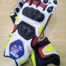 Red Bull Motorcycle Leather Gloves.biker Sports Leather gloves Size L