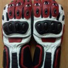 Red Motorcycle Leather Gloves.biker Sports Leather gloves Size S
