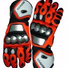 Red Honda Repsol Motorcycle Leather Gloves.biker Sports Leather gloves Size S