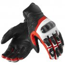 Black/White Motorcycle Leather Gloves.biker Sports Leather gloves Size S