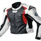 New Mens BMW Motorcycle Racing Biker 100% Cowhide Leather Jacket Size L