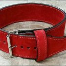 Body fitness gym training customize leather belt size 2xl color red