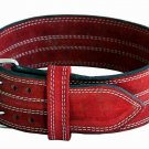 Body fitness gym training customize leather belt size m color red