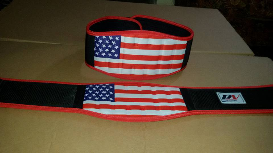 Body fitness gym training customize embas belt size l color red black