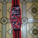 Neoprene sublimation printing Body fitness gym training embas belt size m color red