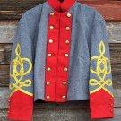 Scottish Highlander Men Military Piper Drummer Doublet Tunic Pipe Band Jacket Size L
