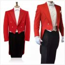 New Scottish Highlander Men Fashion Piper Drummer Doublet Pipe Band Jacket Size M Color Red