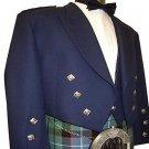 Scottish Highlander Men Prince Charlie Style Coat Fashion Dress To Impress Jacket Size S Color Blue