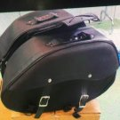 NEW HERITAGE DOUBLE SIDED MOTORCYCLE MOTORBIKE LEATHER SADDLE BAG ART 266