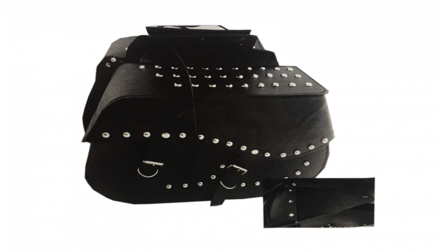 NEW HERITAGE STUD MOTORCYCLE MOTORBIKE LEATHER SADDLE BAG ART 356
