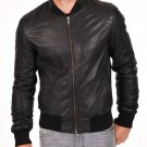 NEW MEN,S CLASSIC FASHION STYLE LEATHER MOTORCYCLE BLACK JACKET SIZE XL