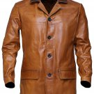 NEW MEN,S FASHION DRESS TO IMPRESS LEATHER MOTORCYCLE BROWN JACKET GS3478 SIZE 3XL
