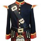 New Scottish Highlander Men Officers Melton doublet Style Coat Fashion Jacket Size L