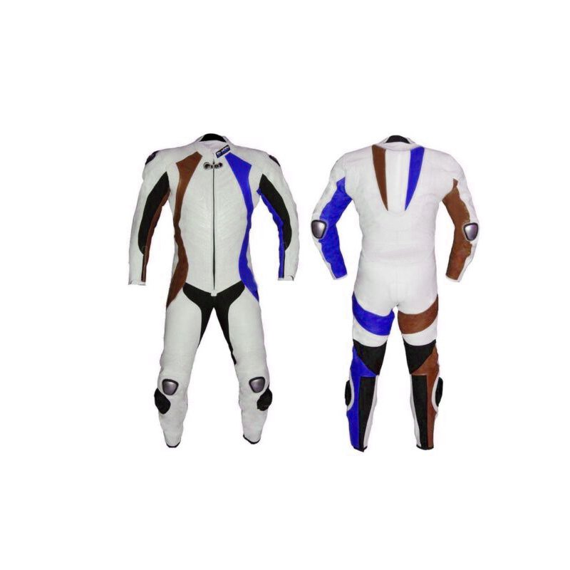 BRAND NEW MOTORBIKE MOTOGP MOTORCYCLE RACING SUIT WHITE COLOR  SIZE 3XL