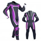NEW MOTORBIKE MOTOGP MOTORCYCLE RACING SUIT ART DC6920 BLACK AND PURPLE  COLOR  SIZE 2XL