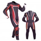 NEW MOTORBIKE MOTOGP MOTORCYCLE RACING SUIT ART DC6920 BLACK AND RED  COLOR  SIZE XS