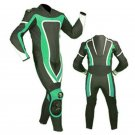 NEW MOTORBIKE MOTOGP MOTORCYCLE RACING SUIT ART DC6920 BLACK AND GREEN  COLOR  SIZE XS