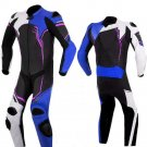 NEW MOTORBIKE MOTOGP MOTORCYCLE RACING SUIT ART DC2497 BLACK AND BLUE  COLOR  SIZE XS