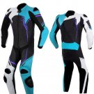 NEW MOTORBIKE MOTOGP MOTORCYCLE RACING SUIT ART DC2497 BLACK AND BLUE  COLOR  SIZE S