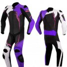 NEW MOTORBIKE MOTOGP MOTORCYCLE RACING SUIT ART DC2497 BLACK AND PURPLE  COLOR  SIZE 2XL