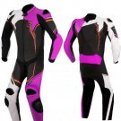 NEW MOTORBIKE MOTOGP MOTORCYCLE RACING SUIT ART DC2497 BLACK AND PINK  COLOR  SIZE XS