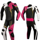 NEW MOTORBIKE MOTOGP MOTORCYCLE RACING SUIT ART DC2497 BLACK AND PINK  COLOR  SIZE L