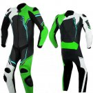 NEW MOTORBIKE MOTOGP MOTORCYCLE RACING SUIT ART DC2497 BLACK AND GREEN  COLOR  SIZE XS