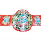 ECW WORLD HEAVYWEIGHT HARDCORE WRESTLING CHAMPIONSHIP BELT ADULT SIZE RED LEATHER STRAP