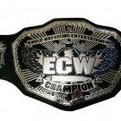 ECW WRESTLING CHAMPIONSHIP BELT BLACK LEATHER STRAP ADULT SIZE