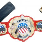 IWGP UNITED STATES WRESTLING CHAMPIONSHIP BELT ADULT SIZE RED LEATHER STRAP
