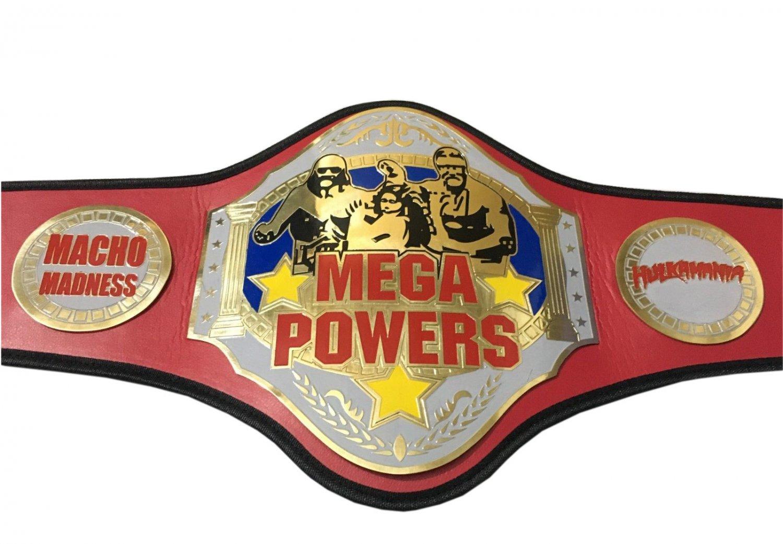 MEGA POWERS CHAMPION HARDCORE WRESTLING CHAMPIONSHIP BELT ADULT SIZE