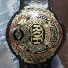 ROH RING OF HONOR WRESTLING CHAMPIONSHIP BELT BLACK LEATHER STRAP ADULT SIZE