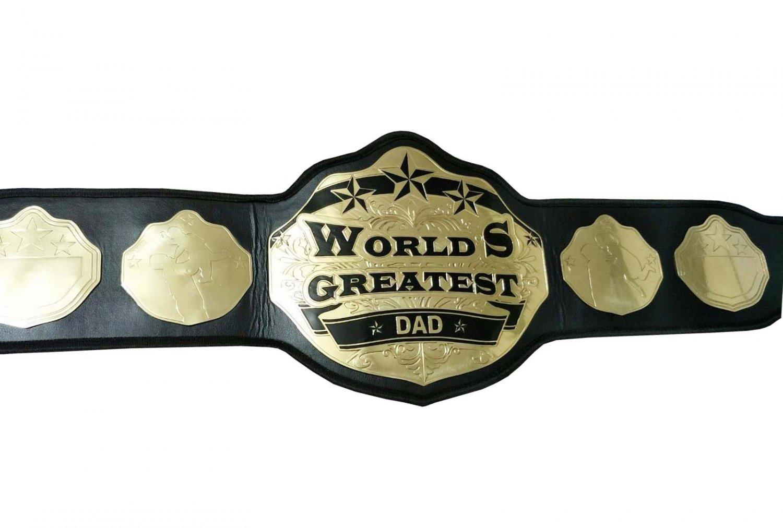 WORLDS GREATEST DAD WRESTLING CHAMPIONSHIP BELT ADULT SIZE