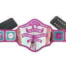 NWA TELEVISION HEAVYWEIGHT WRESTLING CHAMPIONSHIP PINK LEATHER STRAP ADULT SIZE