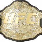 UFC ULTIMATE FIGHTING WRESTLING CHAMPIONSHIP BELT ADULT SIZE BLACK LEATHER STRAP