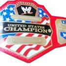 UNITED STATES WRESTLING CHAMPIONSHIP BELT RED LEATHER STRAP ADULT SIZE