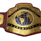 LIGHT HEAVYWEIGHT WRESTLING CHAMPIONSHIP BELT RED LEATHER STRAP ADULT SIZE