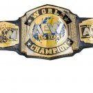 AEW WORLD TAG TEAM WRESTLING CHAMPIONSHIP BELT BLACK LEATHER STRAP